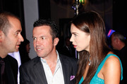 (EXCLUSIVE ACCESS) Liliana Matthaeus (R) & Lothar Matthaeus (C) attend the 'Launch of the new Windows Phone by Deutsche Telekom' at Hotel de Rome on October 20, 2010 in Berlin, Germany.