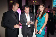 Liliana Matthaeus (R) & Lothar Matthaeus (C) attend the 'Launch of the new Windows Phone by Deutsche Telekom' at Hotel de Rome on October 20, 2010 in Berlin, Germany.