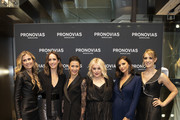 Amandine Ohayon, Louise Roe, Astrid Joss, Felicity Hayward, Lucy Mecklenburgh and Hannah Graf attend the launch of Pronovias 2020 collection; Pronovias is delighted to introduce #PronoviasTalks on October 14, 2019 in London, United Kingdom.