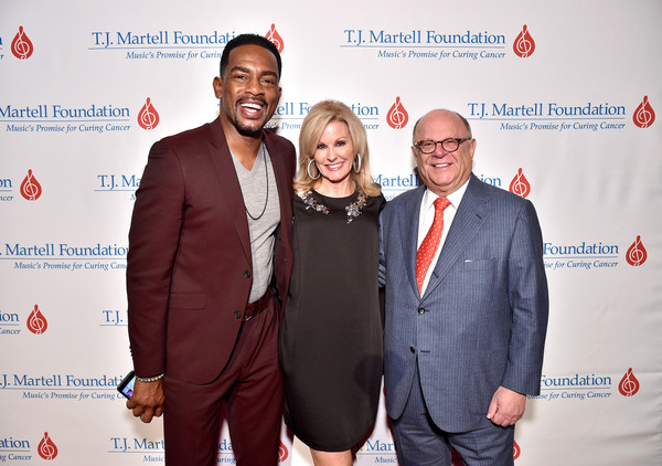 The T.J. Martell Foundation 44th Annual New York Honors Gala [red,event,yellow,award,tourism,carpet,business,smile,businessperson,laura heatherly,joel katz,bill bellamy,martell foundation board chairman,l-r,the t.j.,t.j.,martell foundation,greenberg traurig,martell foundation 44th annual new york honors gala]