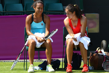 Laura Robson Heather Watson Olympics - Previews - Day - 2
