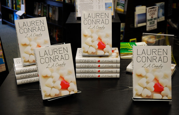 "Copies of TV Personality Lauren Conrad's book ""LA Candy"" is on display at"