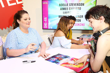 Lauren Ash Marcus Scribner DreamWorks 'She-Ra And The Princesses Of Power' At San Diego Comic-Con