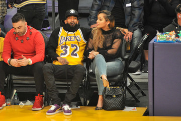 Lauren London Celebrities At The Los Angeles Lakers Game