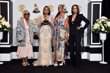 Lauren London Emani Asghedom 62nd Annual GRAMMY Awards – Press Room