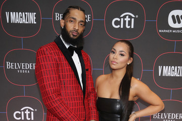 Lauren London Nipsey Hussle Warner Music Pre-Grammy Party - Red Carpet