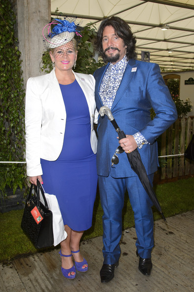 VIP Preview Day at the Chelsea Flower Show  [cobalt blue,blue,electric blue,fashion,outerwear,suit,event,costume,formal wear,jeans,laurence llewelyn-bowen,jackie llewelyn-bowen,press,press,l-r,vip preview,royal hospital chelsea,england,vip,chelsea flower show]