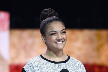 Laurie Hernandez Celebs Attend WE Day New York Welcome to Celebrate Young People Changing the World
