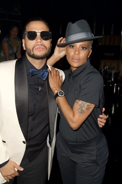 BET 'Music Moguls' Premiere Event [eyewear,fashion,suit,cool,hat,fedora,formal wear,vision care,event,fashion accessory,laurieann gibson,joshua gunn,music moguls,l-r,west hollywood,california,bet,premiere event,music moguls premiere event]