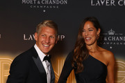 Footballer Bastian Schweinsteiger of Germany and tennis player Ana Ivanovic of Serbia arrive on the Black Carpet during the Laver Cup Gala at the Navy Pier Ballroom on September 20, 2018 in Chicago, Illinois.The Laver Cup consists of six players from the rest of the World competing against their counterparts from Europe.John McEnroe will captain the Rest of the World team and Europe will be captained by Bjorn Borg. The event runs from 21-23 Sept.