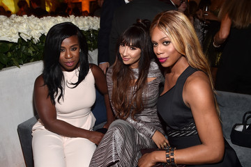Laverne Cox Uzo Aduba 2015 Entertainment Weekly Pre-Emmy Party - Inside