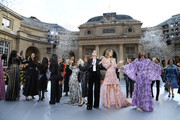 """General view of the finale on the runway during the """"Le Defile L'Oreal Paris""""  Show as part of Paris Fashion Week on September 28, 2019 in Paris, France."""
