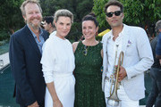 (L-R) Johnny Johnston, HEidi Merrick, Garance Doré and Chris Norton attend Garance Doré, founder of Atelier Doré, celebrates Au Soleil:A Summer Soirée by Le Méridien – a global programme that brings the playful glamour of 1960s European Summers to Le Méridien hotels around the world, on July 12, 2018 in Beverly Hills, California.