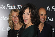 "Actresses Sandrine Kiberlain, Valerie Lemercier and Director Laurent Tirard attend the Premiere of ""Le Petit Nicolas"" film at Le Grand Rex on September 20, 2009 in Paris, France."