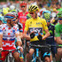 Andre Greipel Chris Froome Photos - Yellow jersey wearer Chris Froome of Great Britain and Team Sky and polka-dot jersey wearer Joaquin Rodriguez Oliver of Spain and Team Katusha in discussion as green jersey wearer Andre Greipel of Germany and Lotto-Soudal looks on prior to the start of stage four of the 2015 Tour de France, a 223.5km stage between Seraing and Cambrai, on July 7, 2015 in Seraing, Belgium. - Le Tour de France 2015 - Stage Four