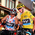 Richie Porte Photos - Chris Froome (R) of Great Britain and Team Sky wearing the overall leader's yellow jersey and Richie Porte of Australia and Team Sky wearing the polka dot jersey prepare for the start of stage twelve of the 2015 Tour de France, a 195 km stage between Lannemezan and Plateau de Beille, on July 16, 2015 in Lannemezan, France. - Le Tour de France 2015 - Stage Twelve