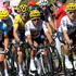Geraint Thomas Photos - Geraint Thomas of Great Britain riding for Team Sky in the leader's jersey rides in the peloton during stage five of the 2017 Le Tour de France, a 160.5km stage from Vittel to La plance des belles filles on July 5, 2017 in La Planche, France. - Le Tour de France 2017 - Stage Five
