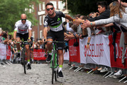 Mark Cavendish of Great Britain riding for Team Dimension Data rides during the team presentation for the 2017 Le Tour de France on June 29, 2017 in Duesseldorf, Germany.