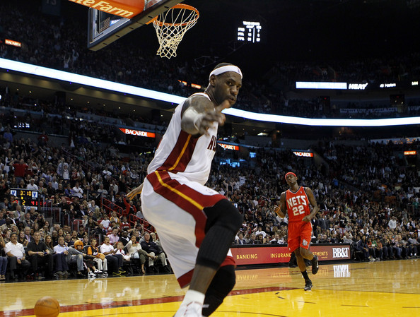 lebron james dunking heat. LeBron James Forward LeBron