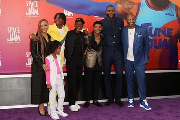 """LeBron James Ceyair Wright Premiere Of Warner Bros """"Space Jam: A New Legacy"""" - Arrivals"""