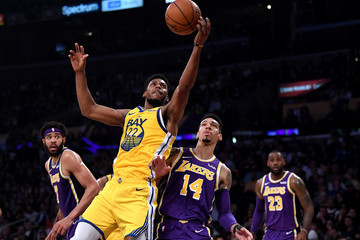 LeBron James Javale Mcgee Golden State Warriors vs Los Angeles Lakers