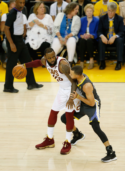 2018 NBA Finals - Game Two [game two,tournament,basketball,sports,basketball player,team sport,player,ball game,competition event,sport venue,footwear,lebron james,user,user,stephen curry,note,ball,game,nba,finals]