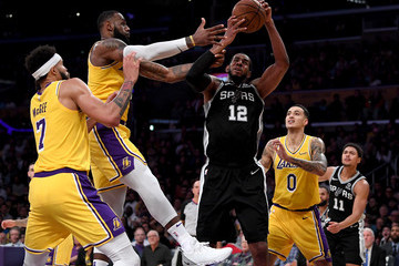 LeBron James San Antonio Spurs v Los Angeles Lakers