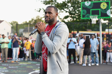 LeBron James Refurbished Basketball Court Unveiled in Akron
