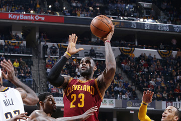 LeBron James Cleveland Cavaliers v Indiana Pacers