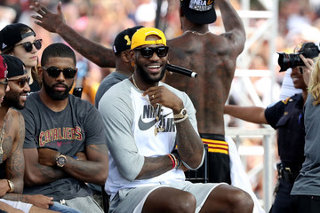 LeBron James Cleveland Cavaliers Victory Parade And Rally