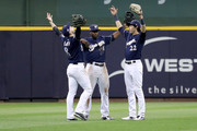 Lorenzo Cain and Christian Yelich Photos Photo
