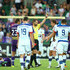 Chris Beath Photos - Referee Chris Beath shows Daniel Mullen of the Jets his second yellow card during the round 22 A-League match between the Perth Glory and the Newcastle Jets at nib Stadium on March 7, 2016 in Perth, Australia. - A-League Rd 22 - Perth v Newcastle