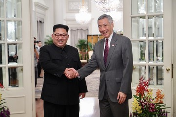 Lee Hsien Loong North Korean Leader Kim Jong-un Arrives In Singapore Ahead Of The U.S.-DPRK Summit
