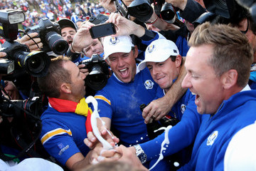 Lee Westwood Rory McIlroy Singles Matches - 2014 Ryder Cup