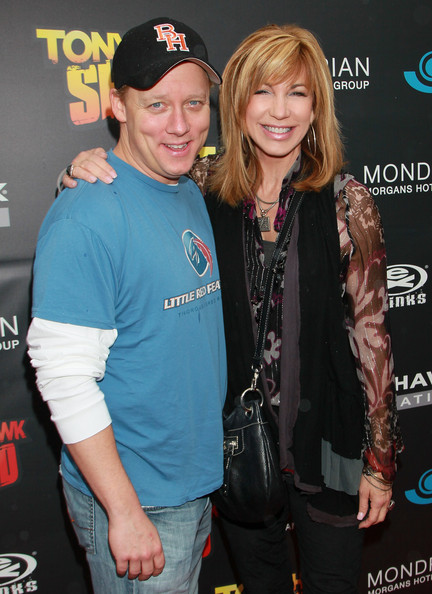 Leeza Gibbons with cool, Husband Steven Fenton