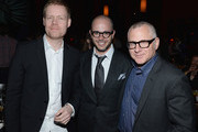 Max Richter, Damon Lindelof and Tom Perrotta attend 'The Leftovers' premiere after party at TAO on June 23, 2014 in New York City.
