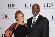 Debra Lee (L) and Gerald Adolph attend the Legal Defense Fund Annual Gala to commemorate the 60th anniversary of Brown V. Board of Education at the New York Hilton Midtown on November 6, 2014 in New York City.