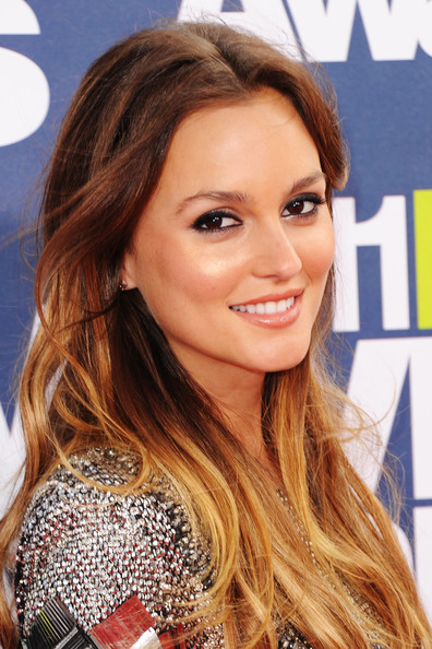 Leighton Meester Actress Leighton Meester arrives at the 2011 MTV Movie .