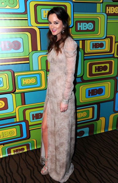 Actress Leighton Meester attends HBO's Post 2011 Golden Globe Awards Party
