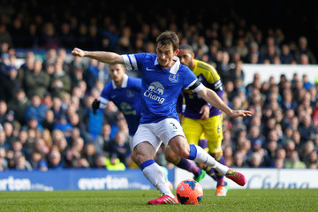 Leighton Baines Everton v Swansea City - FA Cup Fifth Round