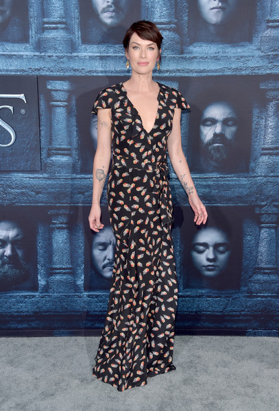 Premiere of HBO's 'Game of Thrones' Season 6 - Arrivals [game of thrones,season,fashion model,dress,fashion,fashion show,catwalk,flooring,runway,gown,formal wear,cocktail dress,lena headey,arrivals,california,hollywood,tcl chinese theatre,hbo,premiere,premiere]
