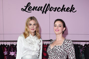 Donna Air and Lena Hoschek at the 'Lena Hoschek' pop up store launch party in Shoreditch on November 16, 2017 in London, England.