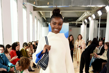 Leomie Anderson Tory Burch Fall Winter 2019 Fashion Show - Front Row
