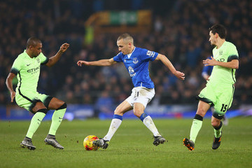 Leon Osman Everton v Manchester City - Capital One Cup Semi Final: First Leg