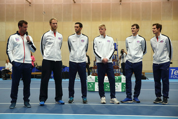 Leon Smith Kyle Edmund The Victorious Great Britain Davis Cup Team Visit Downing Street
