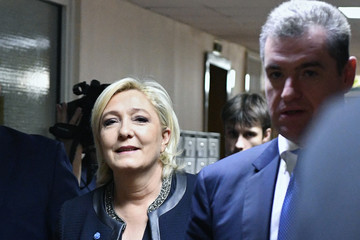 Leonid Slutsky Putin Meets France's Le Pen in Moscow