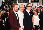 "(L-R) Ryan Gosling, Nicolas Winding Refn, and guest attends the ""Les Bien-Aimes"" premiere at the Palais des Festivals during the 64th Cannes Film Festival on May 22, 2011 in Cannes, France."