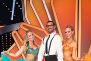 "(L-R) Regina Luca, Benjamin Piwko and Isabel Edvardsson are seen during the 10th show of the 12th season of the television competition ""Let's Dance"" on May 31, 2019 in Cologne, Germany."
