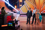 "(L-R) The Jury, Daniel Hartwich, Benjamin Piwko, Isabel Edvardsson and Regina Luca during the 10th show of the 12th season of the television competition ""Let's Dance"" on May 31, 2019 in Cologne, Germany."