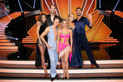 "(L-R) Ekaterina Leonova, Pascal Hens, Valentin Lusin, Ella Endlich, Isabel Edvardsson and Benjamin Piwko are seen during the 11th show of the 12th season of the television competition ""Let's Dance"" on June 07, 2019 in Cologne, Germany."